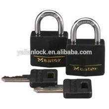 Master Lock 131T Preto Capa, 3/16-inch Shackle, 2-Pack, Cadeado de latão sólido Alike Cadeado