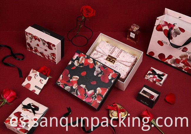 Rose Pattern Paper Box