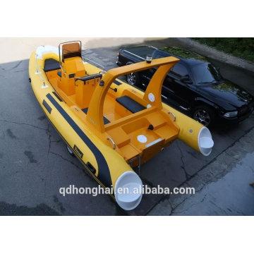 RIB520 boat with ce consol inflatable boat rowing boat china RIB520 boat