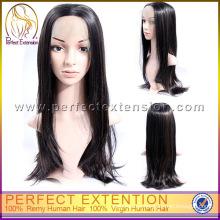 Peluca larga recta natural del frente del cordón del pelo de la Virgen de China