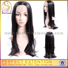 Cheap Long Natural Straight Chinese Virgin Hair Lace Front Wig