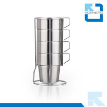 Hot Sale Stainless Steel Tea Cup Sets / Ice Cream Cup