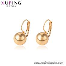 95660 Hot sale popular ladies jewelry 18k gold plated bead hoop earrings