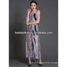 100% Silk Scarf Printed Women Dress