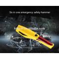 6 em 1 de Emergência Martelo de Segurança Do Carro De Emergência Ferramenta de Carro Disjuntor da Janela Cinto de segurança cortador de Parafuso Ferramenta