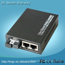 Affordable price 10/100M 1 Fiber port + 2 RJ45 ports Fiber Optical Media Converter with 2 RJ45 Port