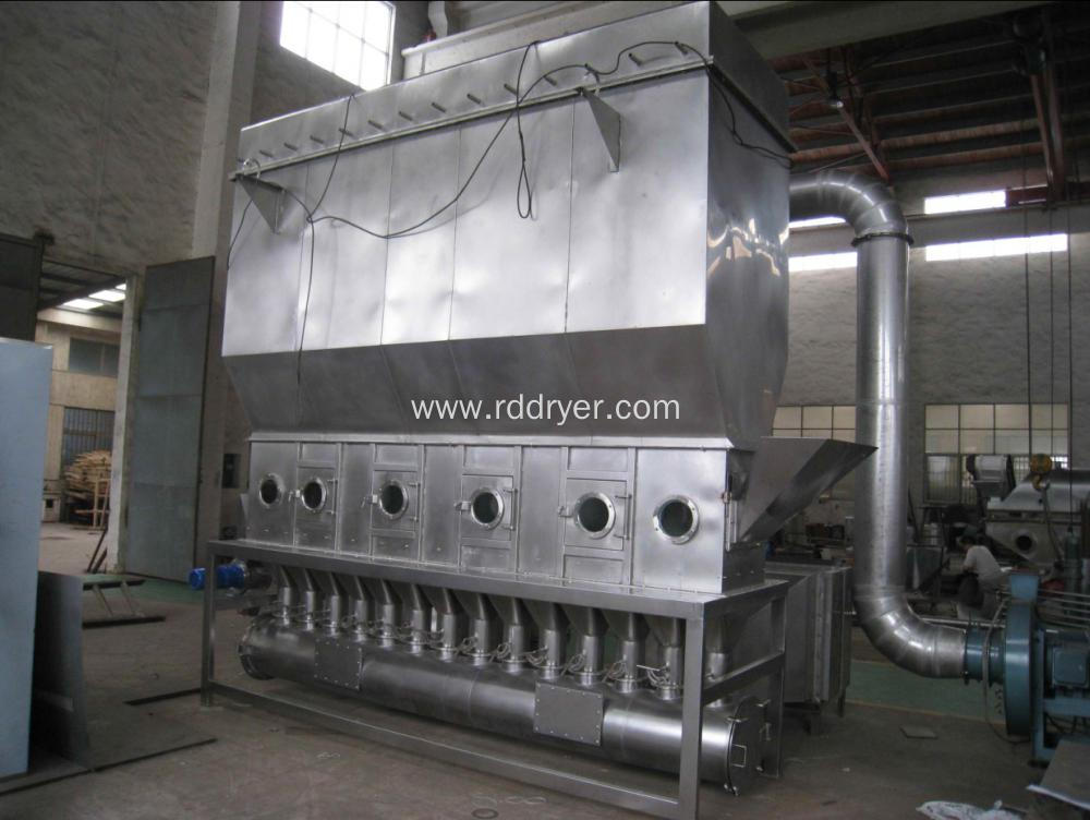 Horizontal Fluid Bed Chemical Dryer