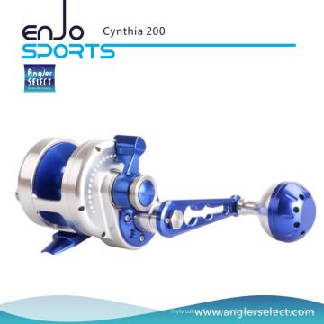 Angler Select Cynthia Sea Fishing Aluminium 8 + 1 Precision Stainless Ball Bearing Jigging Fishing Tackle Fishing Reel (Cynthia 200)