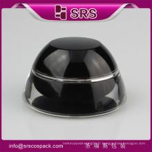 15ml 30ml 50ml pots cosmétiques noirs en plastique