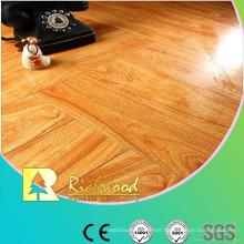 Household 12.3mm Mirror Walnut Sound Absorbing Laminate Floor