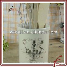 Soporte de cocina de cerámica de marfil occidental