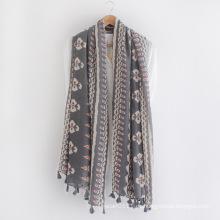 Mode-Baum gedruckt Baumwolle Viskose gedruckt Lady Schal (YKY1153)