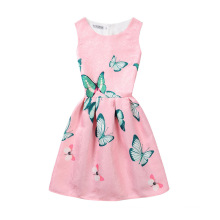 Latest Colorful Girl Printed Summer Dresses Designer One Piece Party Birthday Dress For Girl Of 7 Years Old