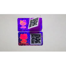 Custom logo 3D holographic anti-counterfeiting metal trademark with running serial number