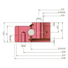 Rollix Tipo de luz Bola de contacto de cuatro puntos Rodamiento de giro 31 0841 01
