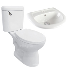 hot sale new design ceramic sink basin and toilet combination