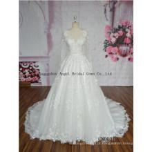 Vestido de noiva elegante do querido vestido de baile Ruche bowknot Sash