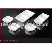 T0126 soy de porcelaine, sauce, plat d'huile / céramique plateau de soja