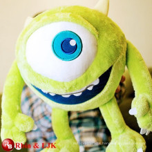 Green monster big eyes soft toy