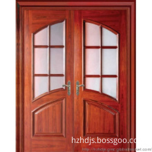 double leaves  doors with glass