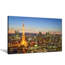 Torre de Paris Impressão de Imagem / Cenário da Noite da Cidade Arte da Tela / Noite Paris Wall Art for Hanging