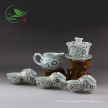 Porcelain WholesaleTeaware Set Including( 1 Gaiwan, 1 Pitcher, 6 Cups)
