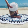 digital printing turkish round beach towel