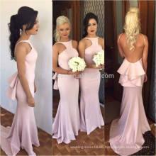 Persönlichkeit Design Charming Backless lange Chiffon Meerjungfrau Brautjungfer Kleider 2016 Frauen elegantes Kleid für Hochzeit ML121