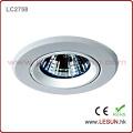 Ballast de lampe à halogénure métallique MR16 de logement blanc! Lumière haloïde en métal de plafond de 50W caché pour la boutique de bijoux (LC2758)