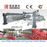 Laser Bridge with Computerized Embroidery Machine (QJY-624-30-A and QJD-800-4-150)