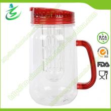 Lavatório de água de plástico personalizado sem BPA de 16 oz com infusor (IB-A5)