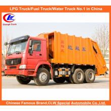 Caminhão do compressor do lixo de HOWO da parte traseira com o caminhão da coleção de recusa