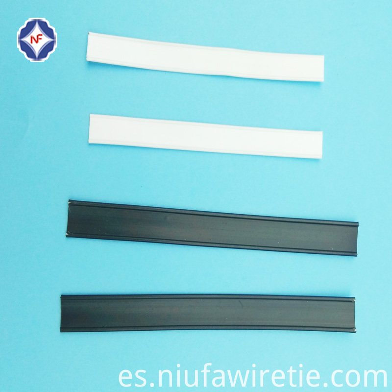 cutted plastic double wire tin tie