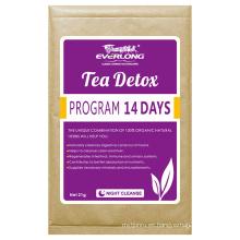 100% Té herbario orgánico del Detox que adelgaza el té de la pérdida del peso del té (la noche limpia)