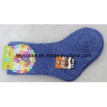 Einfache Farbe Baby Merino Wolle Socke
