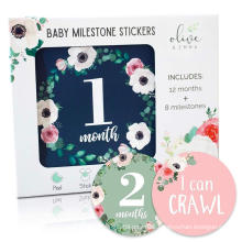 coated paper logo custom printed baby milestone stickers
