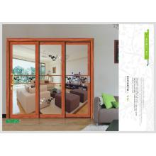 porta de 3 painel de vidro, porta de vidro deslizante
