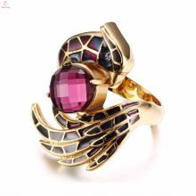 En venta al por mayor de oro Aniversario rubí dedo anillos de joyería