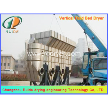 Vertical fluid bed dryer for foodstuff