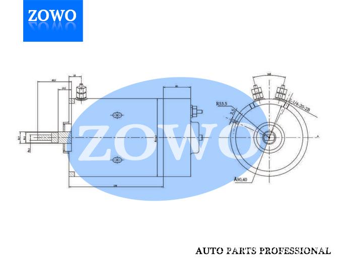 Phjd003 Dc Motor 12v 1 8kw 2400rpm