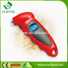 Pantalla LCD Digital Manómetro de presión de neumáticos de coche con retroiluminación azul y gancho