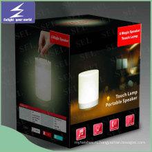 2016 Горячий продукт Музыка Портативная светодиодная настольная лампа с Bluetooth спикером