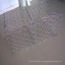 Gabion cesta de malla de alambre