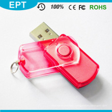 Transparent Plastic Classical Swivel USB Pendrive (EP078)