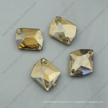 Pedras de vestuário dourado soltas pedras de cristal