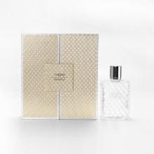 Caixas vazias de 50ml de embalagem de perfume de ouro