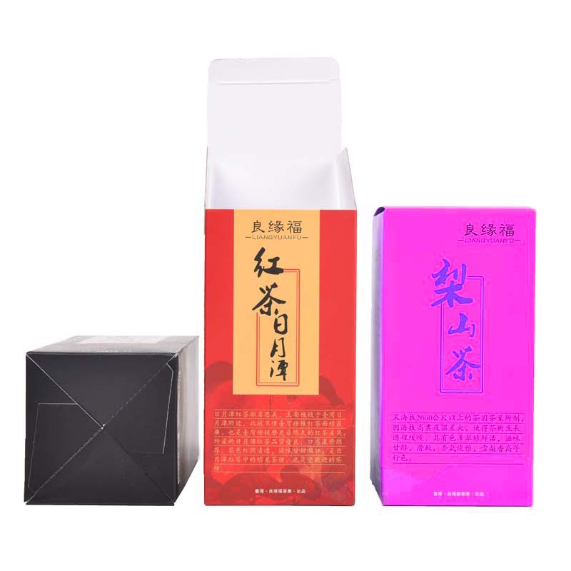 The black tea packaging carton