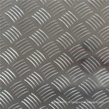 Folha de alumínio em relevo de cinco barras