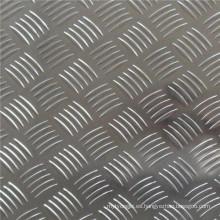 Hoja de aluminio en relieve de cinco barras