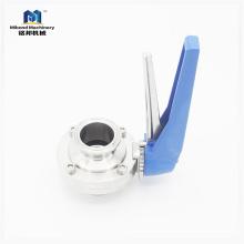 DN32 SS304, Ручной, Зажимной санитарный дроссельный клапан с пластиковой ручкой